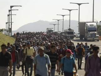 Caravana de migrantes a EE UU