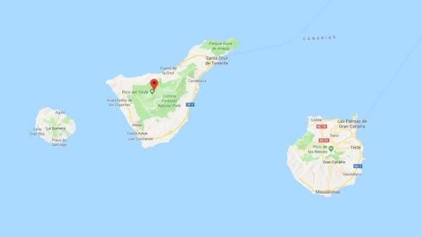 Las islas de Tenerife y Gran Canaria