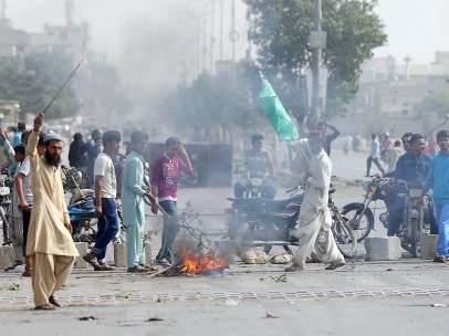 Manifestaciones islamistas en Pakistán