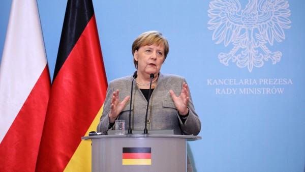 Angela Merkel en Polonia