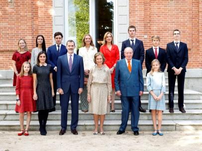 Familia real en el cumpleaños de Sofía