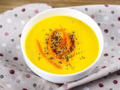 Crema de zanahoria y puerro