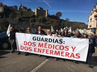 Zamora.- Cabecera de la manifestación