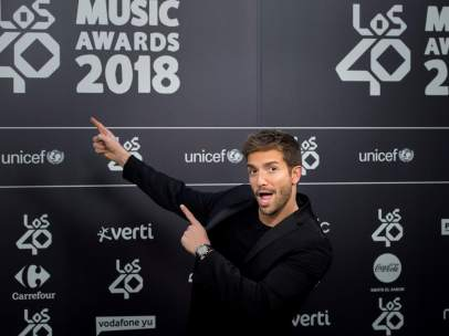 Pablo Alborán en Los40 Music Awards