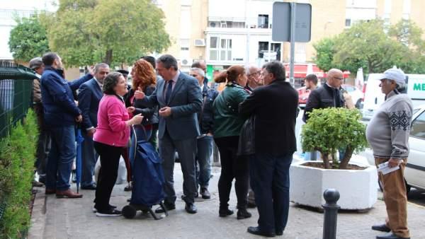 Visita de actuaciones del alcalde de Sevilla a actuaciones en la Macarena