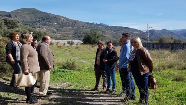 Visita del PP a los terrenos del Hospital de Órgiva (Granada)