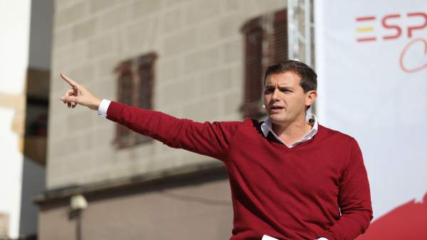 Albert Rivera, en el acto de España Ciudadana en Alsasua.