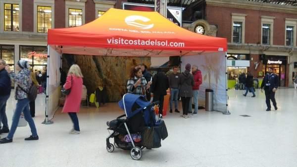 Turismo Costa del Sol en una acción promocional en Londres