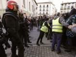 """Encuentro de la Policía Foral contra los manifestantes de Alsasua por el acto de """"España Ciudadana"""""""