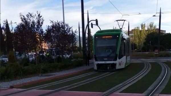 Metro de Granada tras el accidente