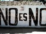 Pintada con el lema 'No es no'