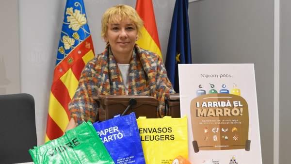 Inicio de la campaña del contenedor marrón en València