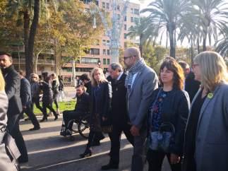 Quim Torra y miembros del Govern arropan a Miquel Buch y Neus Lloveras