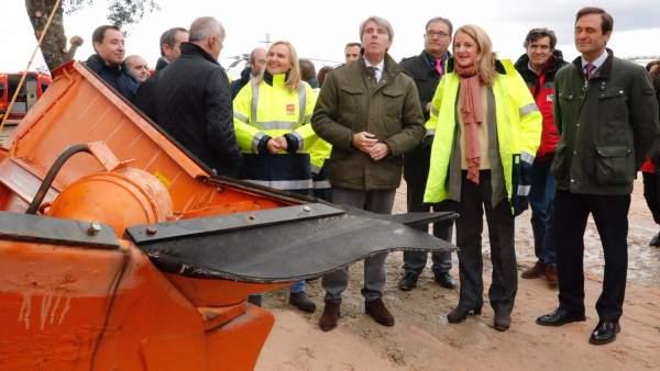 El presidente regional Ángel Garrido presenta el Plan de Inclemencias Invernales en La Cabrera