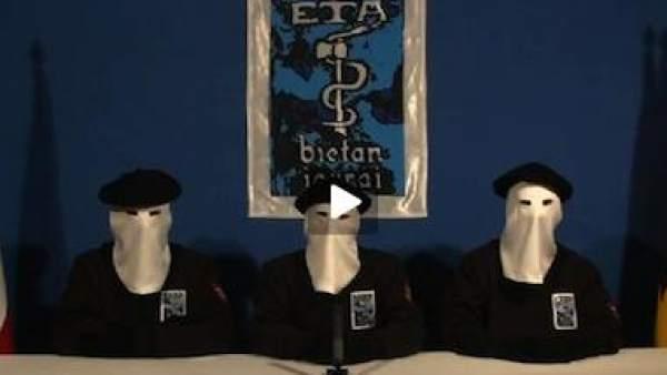 Lectura del comunicado de ETA (archivo)