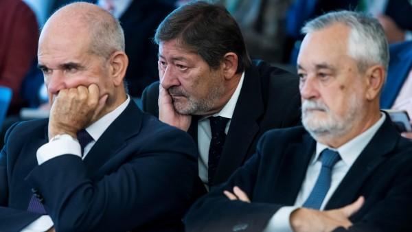 Manuel Chaves, José Antonio Griñán y Francisco Javier Guerrero