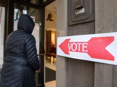 Un instante durante las elecciones legislativas de Estados Unidos