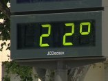 Termómetro marcando 22 grados