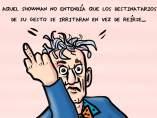 El gesto del 'showman', viñeta de Superantipático