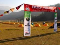 El campamento de la Everest, listo para el inicio de la carrera