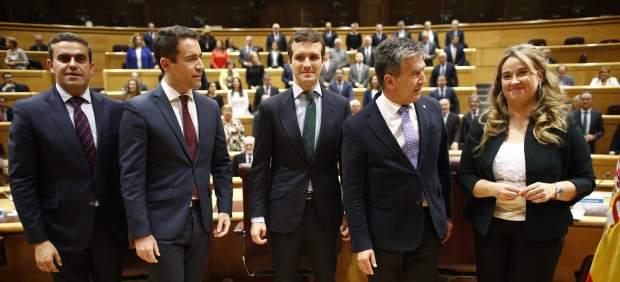 """Reunión del grupo """"popular"""" en el Senado"""