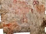 Pinturas rupestres en Borneo
