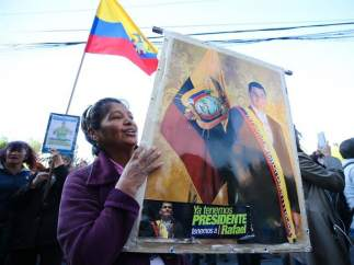 Simpatizantes de Rafael Correa