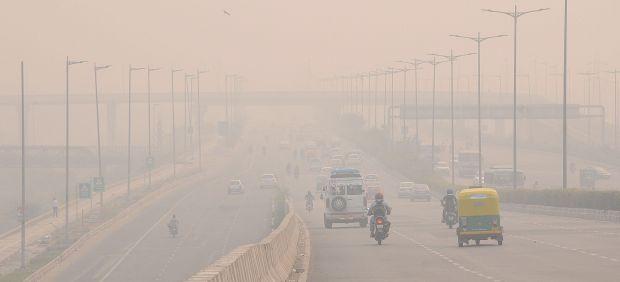 Contaminación en Delhi