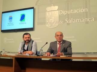 Raúl de Tapia (i) y Manuel Rufino García (d) .