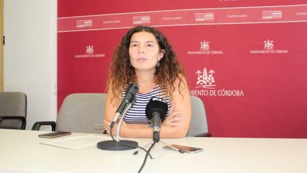 La edil de Ganemos Córdoba Vicky Lopez