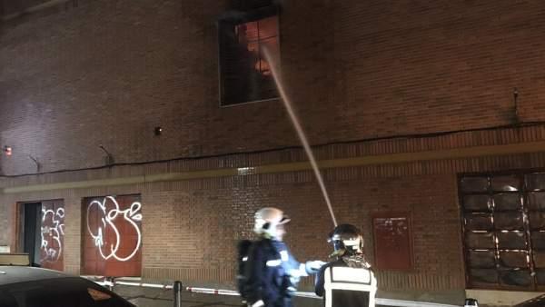 Incendio en una iglesia adventista de Torrejón