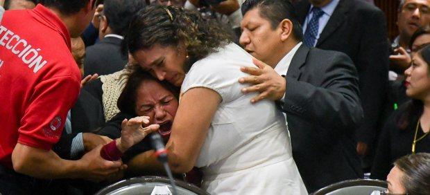 Una madre rota por el dolor