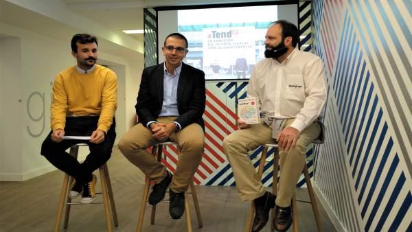 Pedro Lozano, Toño Ruiz y Lorenzo Pastor este viernes en EspacioXPlora Ibercaja.