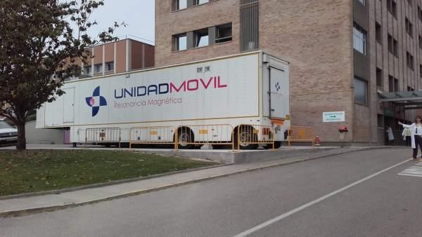 Nueva unidad de resonancia en el Hospital de Barbastro.