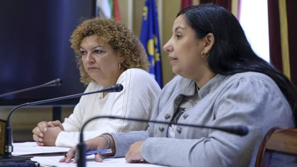 Las ediles del Ayuntamiento de Cádiz, Eva Tubío y Ana Fernández