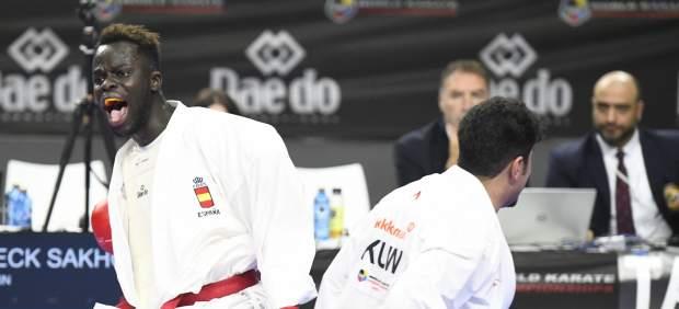Babacar Seck, primer medallista español en el Mundial de Madrid de Karate