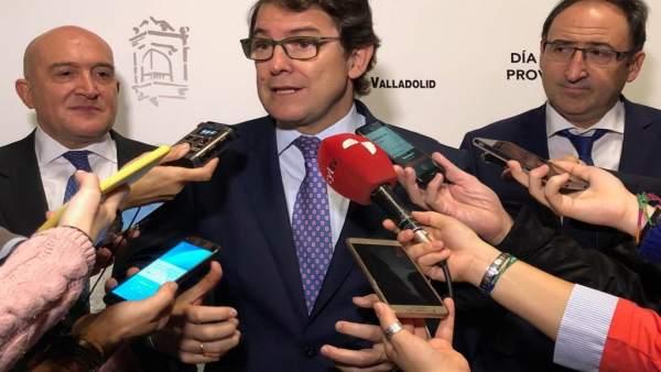 Valladolid.- Alfonso Fernández Mañueco en el Día de la Provincia