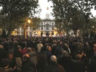 Manifestación ante la sede del Supremo