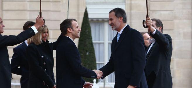 Macron y Felipe VI