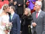Josema Yuste, emocionado en la boda de su hija Ana