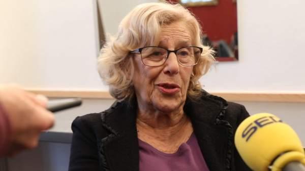 """Carmena dice que los ediles de Podemos """"continuarán en el proyecto"""""""