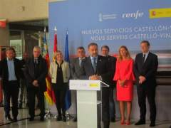 Ábalos a Castelló en la presentació de l'ampliació de l'oferta de trens