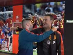 Jordi Alba y Luis Enrique