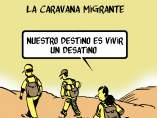 'La caravana migrante', viñeta de Malagón.