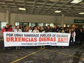 Protesta del personal de Urxencias del CHUS