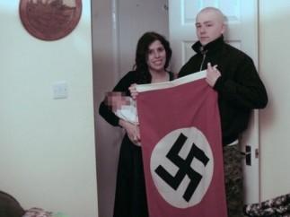Adam Thomas y Claudia Patatas, la pareja de neonazis