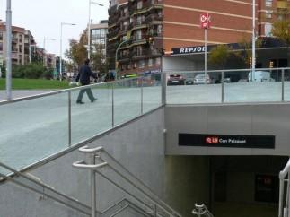 La estación de metro de Can Pixauet (Barcelona)