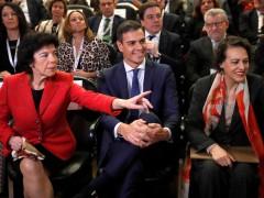 Celaá, Sánchez y Valerio