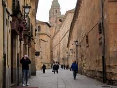 Turistas por las calles de Salamanca