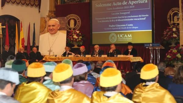 Imagen del Solemne Acto de Apertura del Curso en la UCAM